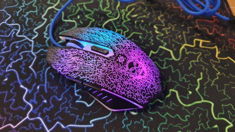 Myš + Podložka Gaming barevná